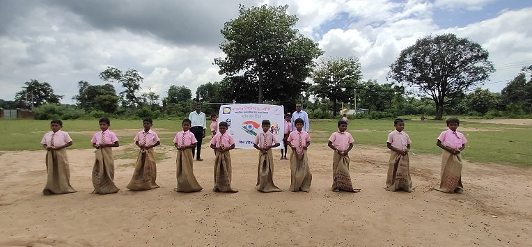 Pravanand School Pancha during Fit India Program organised by CSR MECON